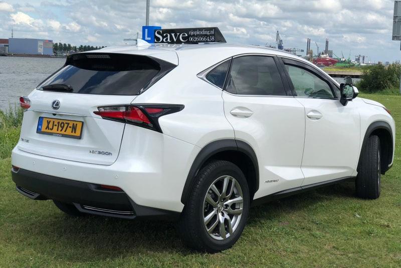 Automaat Lexus achterkant rechthoek